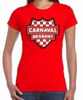 Brabant verkleedshirt carnaval rood dames