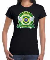 Brazil drinking team t-shirt zwart dames