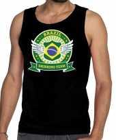 Brazil drinking team tanktop mouwloos shirt zwart heren