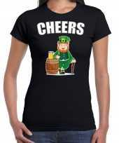 Cheers feest-shirt outfit zwart dames st patricksday