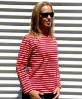 Dames shirt lange mouw bretonse streep