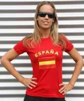 Dames t-shirt spaanse vlag