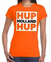 Ek wk supporter t-shirt hup holland hup oranje dames