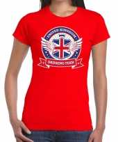 Engeland drinking team t-shirt rood dames