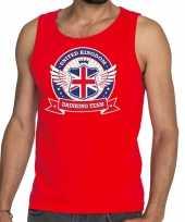Engeland drinking team tanktop mouwloos shirt rood heren