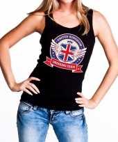 Engeland drinking team tanktop mouwloos shirt zwart dames