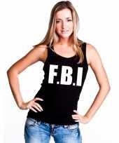 Fbi mouwloos shirt zwart dames