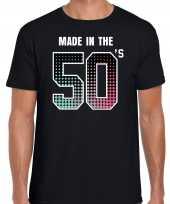 Feest-shirt made the 50s t-shirt outfit zwart heren