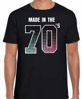 Feest-shirt made the 70s t-shirt outfit zwart heren