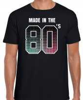 Feest-shirt made the 80s party t-shirt outfit zwart heren