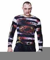 Fotorealistische zombie gevangene shirt