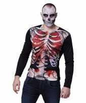 Fotorealistische zombie skelet-shirt