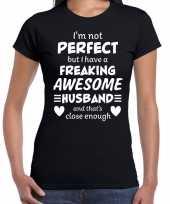 Freaking awesome husband echtgenoot cadeau t-shirt zwart dames