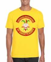 Fun t-shirt limburgse carnavalsvereniging geel heren