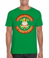 Fun t-shirt limburgse carnavalsvereniging groen heren