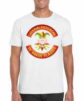 Fun t-shirt limburgse carnavalsvereniging wit heren