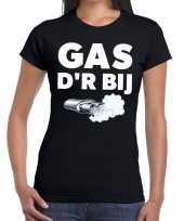 Gas der bij zwarte cross achterhoek t-shirt zwart dames