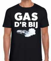 Gas der bij zwarte cross achterhoek t-shirt zwart heren