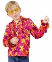 Gekleurd hippie shirts kinderen