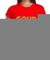 Goud fun t-shirt rood dames