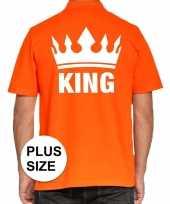 Grote maat koningsdag polo t-shirt oranje king heren