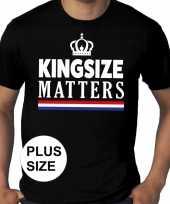 Grote maten kingsize matters koningsdag kroon shirt zwart heren