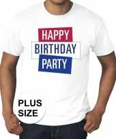 Grote maten officieel toppers concert happy birthday party t-shirt wit heren