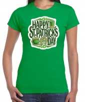 Happy st patricks day feest-shirt outfit groen dames st patricksday