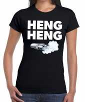 Heng heng zwarte cross achterhoek t-shirt zwart dames