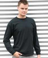 Heren shirt lange mouwen zwart
