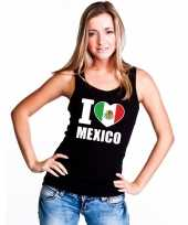 I love mexico supporter mouwloos shirt zwart dames