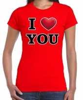 I love you cadeaushirt valentijnsdag rood dames