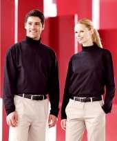 Kleding heren col t-shirt roll neck