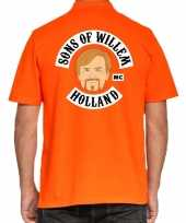 Koningsdag polo t-shirt oranje sons of willem holland mc heren