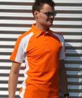 Lemon soda oranje polo shirt heren oranje