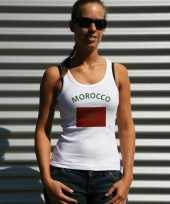 Marokkaanse vlag tanktop t-shirt dames