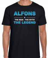 Naam alfons the man the myth the legend shirt zwart cadeau shirt