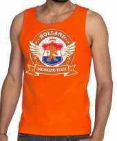 Nederland drinking team tankop mouwloos shirt oranje rwb heren