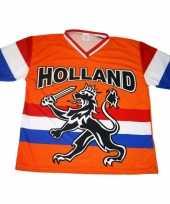 Nederland supporters t-shirt zwarte leeuw vlag 10047888