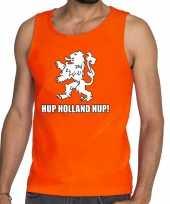 Nederlands elftal supporter tanktop mouwloos shirt hup holland hup oranje heren