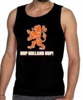 Nederlands elftal supporter tanktop mouwloos shirt hup holland hup zwart heren
