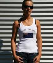 Nieuw zeelandse vlag tanktop t-shirt dames