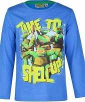 Ninja turtles t-shirt kinderen blauw