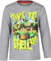 Ninja turtles t-shirt kinderen grijs