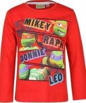 Ninja turtles t-shirt kinderen rood