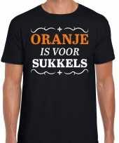 Oranje is sukkels shirt zwart heren