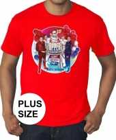 Plus size officieel toppers concert 2019 t-shirt rood eren