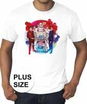 Plus size officieel toppers concert 2019 t-shirt wit heren