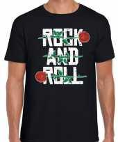 Rock and roll 50s shirt zwart heren
