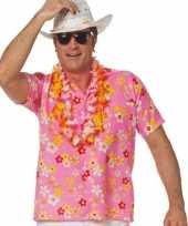 Roze hawaiishirt volwassenen